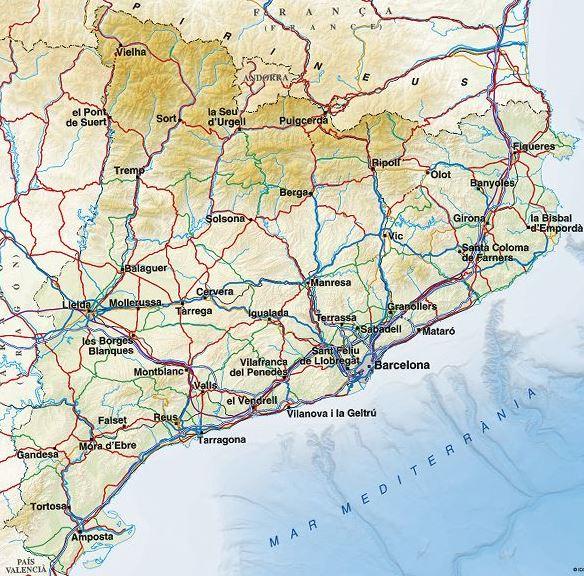 Mapa Topografic De Catalunya.Cartographic Viewer Of Catalonia Drupal