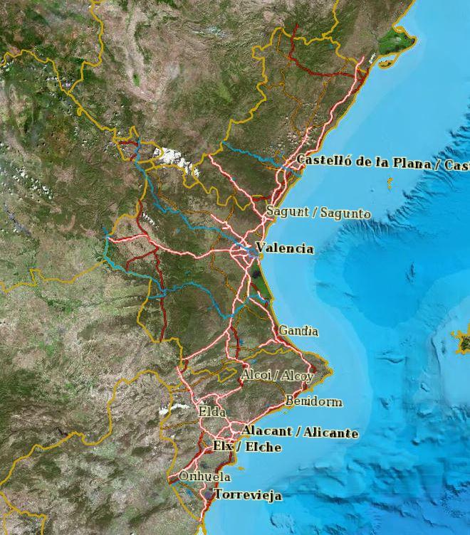 Mapa Topografico Comunidad Valenciana.Visor Cartografico De La Comunidad Valenciana Geamap Com
