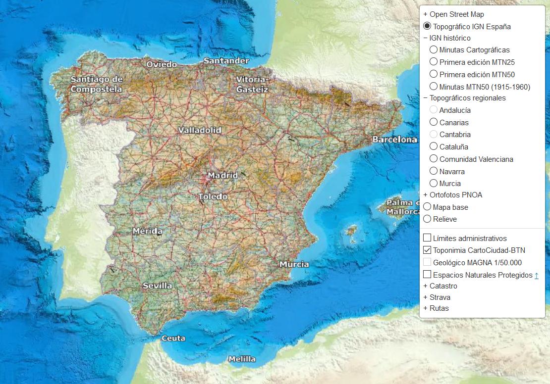 Mapa Topografico Comunidad Valenciana.Visor Cartografico De Espana Geamap Com Visualiza Toda La