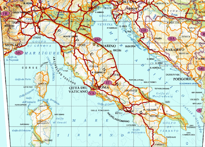 Cartina Dellitalia In Scala.Italia Visualizzatore Cartografico Geamap Com Visualizza Le Mappe Online Con La Cartografia Digitale