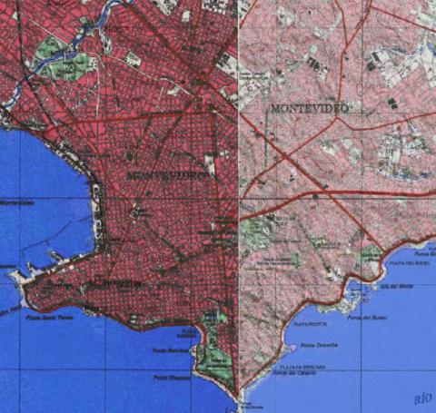 Mapa topográfico Uruguay