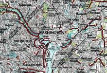 Map of the United States Washington